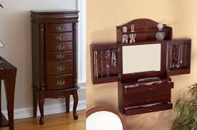 Bedroom: Outstanding Jewelry Armoire Kohls Walmart Cherry Wood In ... Fniture Target Jewelry Armoire Free Standing Box With Mirror Image Of Cabinet Mf Cabinets Amazing Ideas Inspiring Stylish Storage Design Big Lots Wall Mounted Interior