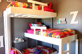 triple bunk beds with plans u2014 kara kae james