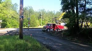Truck Near Railroad - D.W. Cary Hauling, Inc.