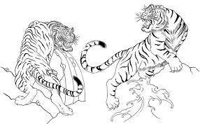 Japan Tigers More Coloring Pages