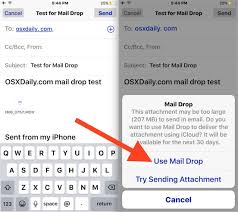 How to Use Mail Drop in iOS for Sending Files via Email