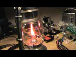 gas lantern converted to electric