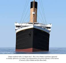 Sinking Ship Simulator The Rms Titanic by Titanic Port List Did It Affect The Collision Encyclopedia