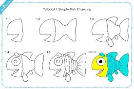 Simple Fish Drawing For Kid With Pictures