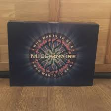 Who Wants To Be A Millionaire Board Game Used Has All The Pieces Inside And Box Damaged From Age