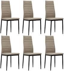 6x stühle hochlehner esszimmer stühle braun kunst leder