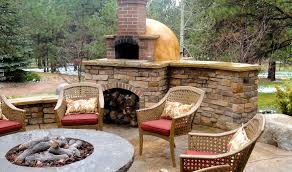 landscaping firepit patio pizza oven