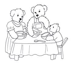 Free Printable Coloring Pages Of Goldilocks And The Three Bears Inside