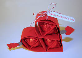 Valentines Day Gifts For Him Chocolates Kisses Red Paper Heart Homemade