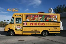 100 Miami Food Trucks Schedule Truck Wrap Design Dania Beach Florida Pita Bus Truck