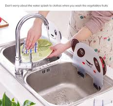 creative kitchen wash basin sucker plastic water splash guards