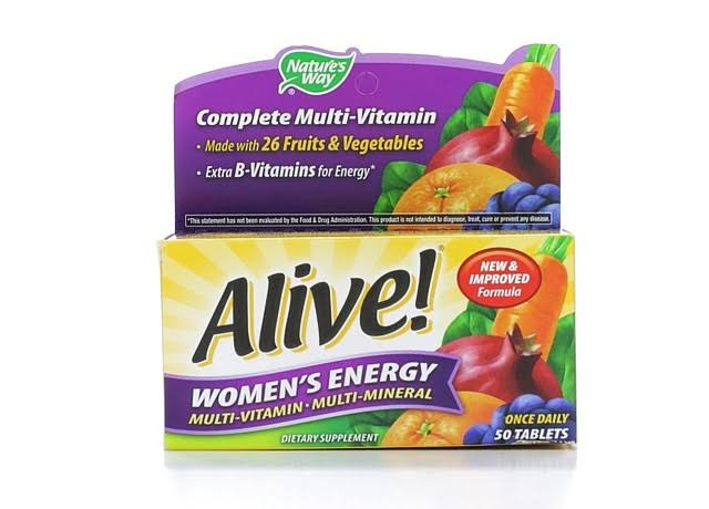 Nature's Way Alive! Women's Energy Multivitamin - 50 Tablets