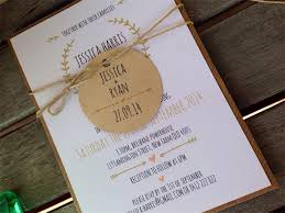 Rustic White And Kraft Wedding Invitation