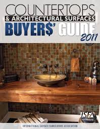 Esi Sinks Kent Wa by Isfa Countertops U0026 Architectural Surfaces Buyers Guide 2011 By