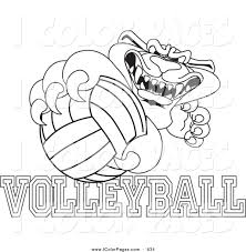 Coloring Pages Volleyball Of Player Players To Print At