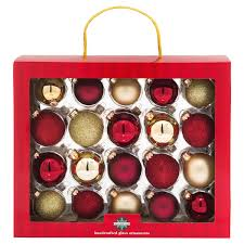 Meijer Home Wall Decor by December Home Glass Ornaments Red Gold 40 Ct Meijer Com