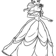 Princess Belle Coloring Pages Sheets Free