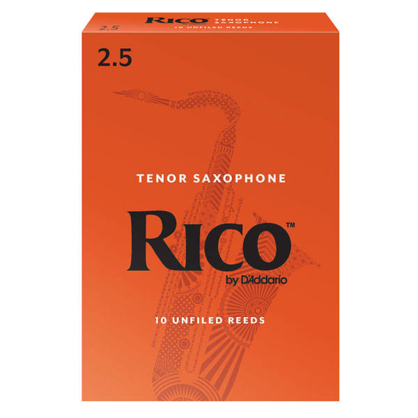 Rico Tenor Sax Reeds - Strength 2.5, 10 Pack