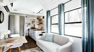 Tiny House On Wheels Minimalist Shabby Chic Interior RV Trailer
