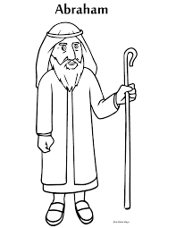 Abraham Coloring Book Image For Print