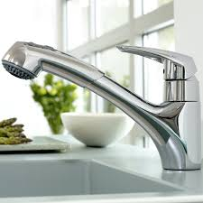 Grohe Kitchen Faucet Leaks At Base by Eurodisc Single Handle Pull Out Kitchen Faucet Touch On Kitchen