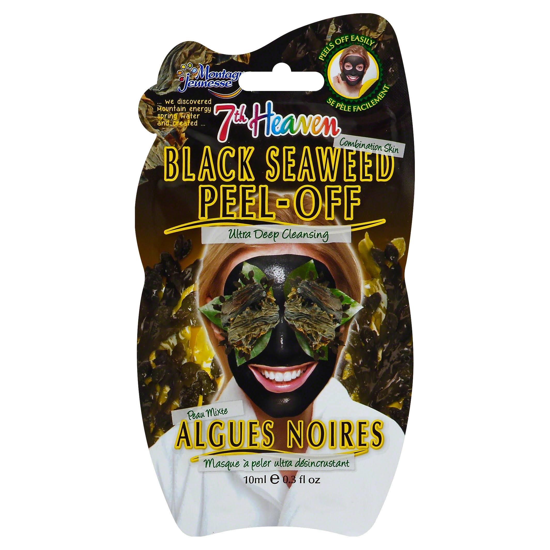 Montagne Jeunesse 7th Heaven Peel off Face Mask - Black Seaweed