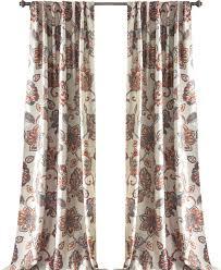 genevieve floral rod pocket curtain panel reviews joss main