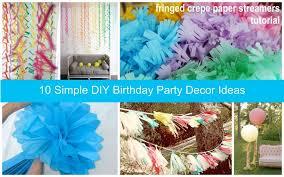 10 DIY Birthday Party Decor Ideas