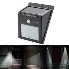 epctek solar led wall lights wireless security light motion sensor