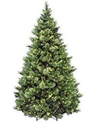 National Tree 75 Foot Carolina Pine With Flocked Cones And 750 Clear Lights Hinged