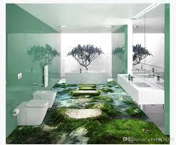 großhandel maßgeschneiderte 3d selbstklebende boden fototapete natürliche landschaft strand stein pier schlafzimmer badezimmer 3d wasserdichte
