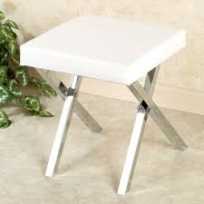 Vanity Chair With Wheels by Bedroom Elegant White Sqaure Vanity Stools For Contemporary