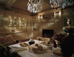The Victorian Dining Room In Classic Cream Fitted Around Clive Christian Armorial Fireplace With Mirrored Over Mantle Tiffany Glazed Dressers Are
