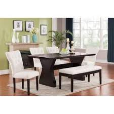 Acme United Modern Comfort And Style 6pcs Dining Set Effie Collection Table Beige Chairs Bench