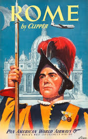 Rome Pan American World Airways Travel Poster Acrylic Print Canvas