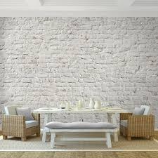 fototapeten ziegelmauer 3d beige 352 x 250 cm vlies wand