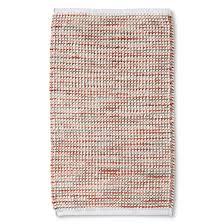 chenille stripe bath rug coral threshold target