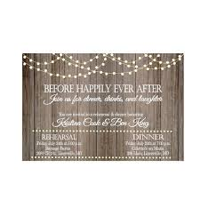 Vintage Lights On Rustic Wood Rehearsal Dinner Invitation And Invite Wedding