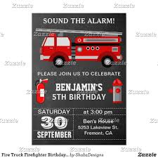 Fire Truck Firefighter Birthday Party Invitation | Pinterest ...