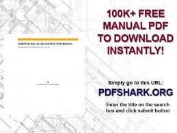 hton bay ac 552 instruction manual youtube