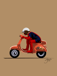 Deadpool Vespa By Guidux92