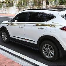 Luhuezu 3M Car Body Sticker For Hyundai Tucson 2015 2016 2017