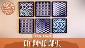 DIY Framed Fabric Gallery Wall