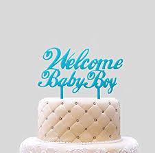 de tortenaufsatz welcome baby boy blau für