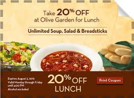 off Olive Garden Lunch Coupon AddictedToSaving