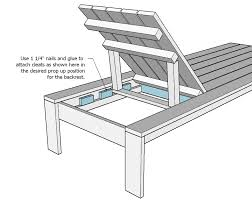 Free Plans For Wooden Lawn Chairs by Ana White Single Lounger For The Simple Modern Outdoor