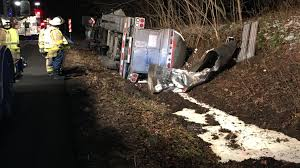 100 Milk Truck Accident Tanker Driver Arrested On DWI Charge In Delaware County Crash
