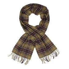 barbour scarf green classic tartan lambswool usc0001tn11 aphrodite