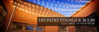 String Lights For Patio by Diy Patio Strings And Bulbs Yard Envy