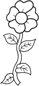 Full Image For Simple Flower Printable Coloring Pages Rose Sunflower